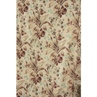 Antique 1880s FrenchBelle Epoque Large Scale Fabric Panel Curtain W/ Ruffle For Sale