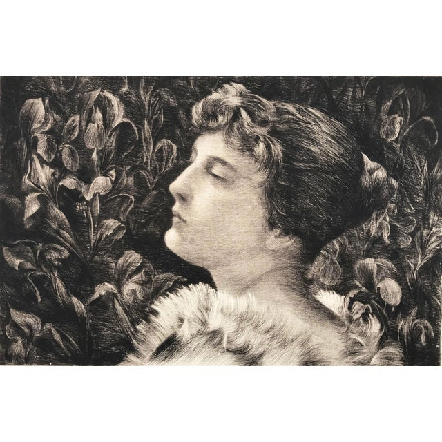 Etching Portrait of Lucille by William St John Harper 1888 - Image 2 of 6