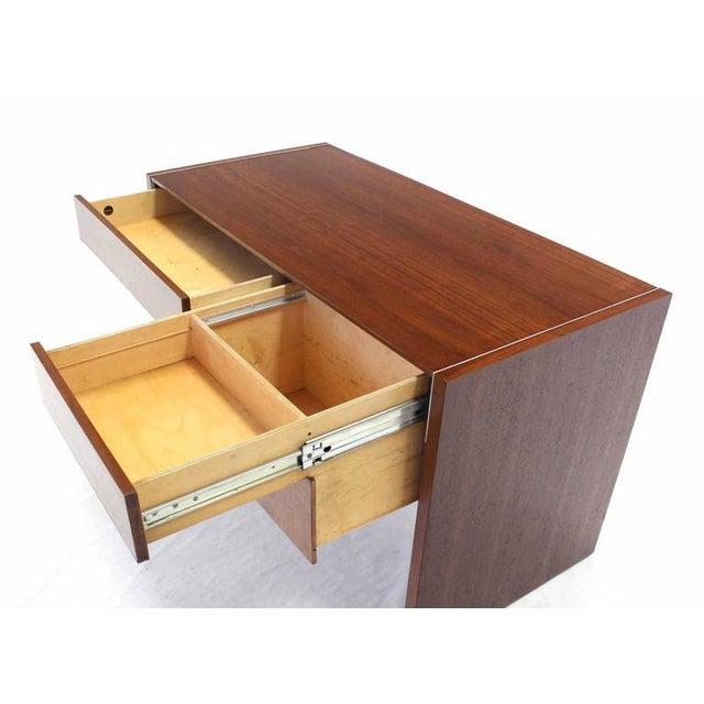 Early 20th Century Hidden File Drawer Glenn California Mid Century Modern Walnut Writing Table Desk For Sale - Image 5 of 9