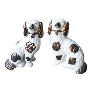 Copper Lustre Staffordshire Dogsth Century - a Pair For Sale