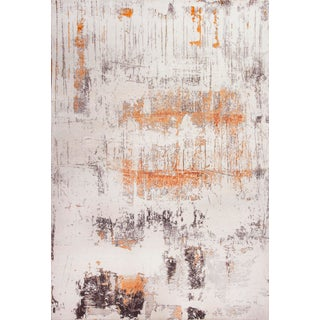 Contemporary Wool and Silk Rug - 8′11″ × 10′9″ For Sale