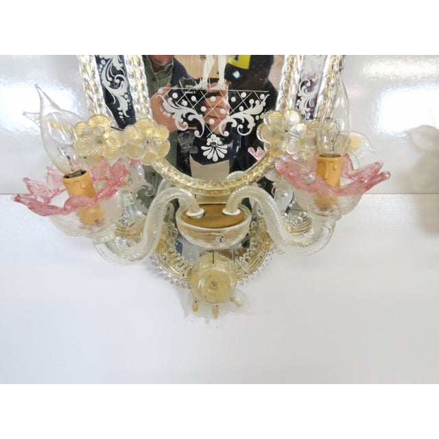 Antique Venetian Glass Mirrored Sconces - A Pair - Image 7 of 7