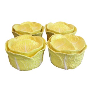 Mid 20th Century Yellow Cabbage Soups - Set of 4 For Sale