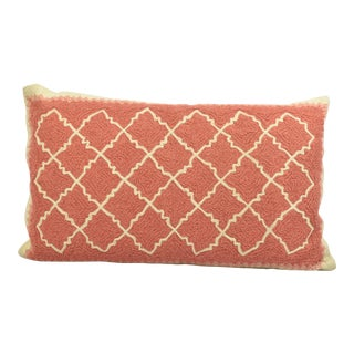 Pink & Ivory Pottery Barn Throw Pillow Cover For Sale