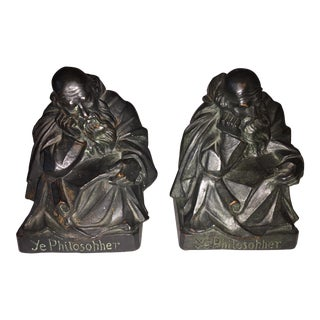 1915 S. Morani Armor Bronze Bookends - a Pair For Sale