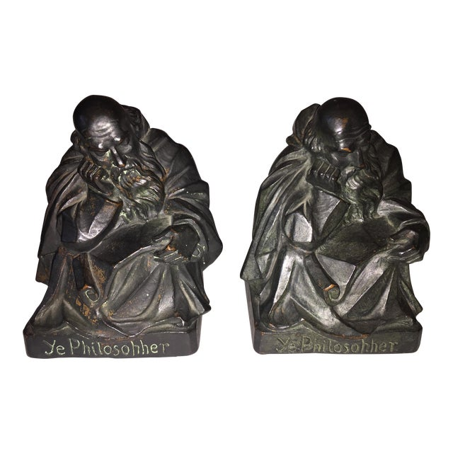 1915 S. Morani Armor Bronze Bookends - a Pair - Image 1 of 10