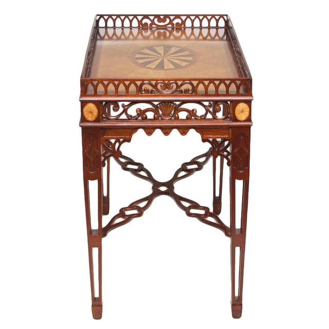 1980s Maitland Smith Chippendale Mahogany Tea Table For Sale In Dallas - Image 6 of 13