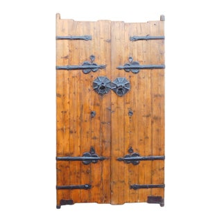 Chinese Vintage Iron Hardware Door Gate Wall Panel For Sale
