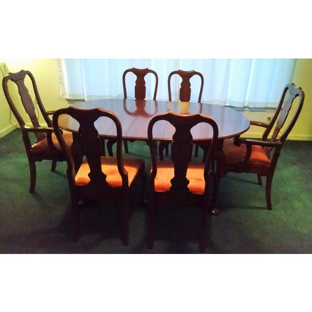 Pennsylvania House Solid Cherry Dining Table & Chairs - Set of 7 - Image 8 of 8