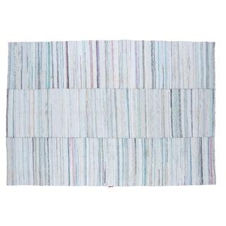 "Vintage Striped Rag Rug - 6'7"" x 9'6"""