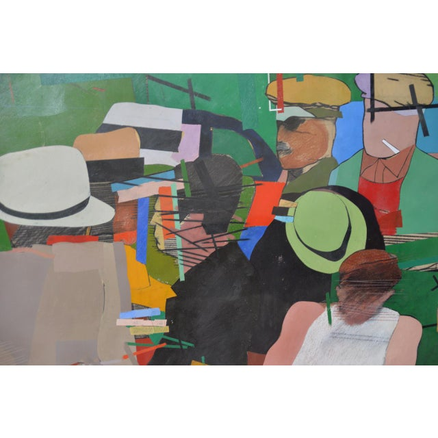 """Richard Merkin (1938-2009) """"Yamekraw, An Original Composition"""" Monumental Mixed Media Painting For Sale In San Francisco - Image 6 of 11"""