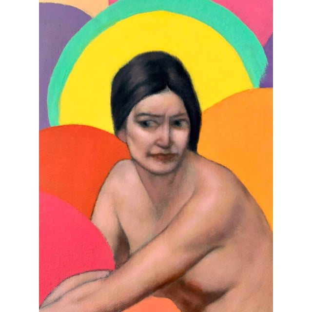1990s 1990s Nude Woman Oil Portrait Painting For Sale - Image 5 of 7