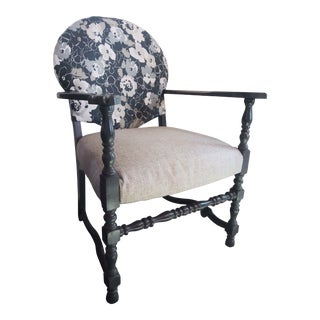 1920s Vintage Painted Accent Chair For Sale