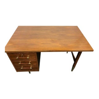 Danish Mid-Century Modern Oiled Walnut Desk Writing Table For Sale