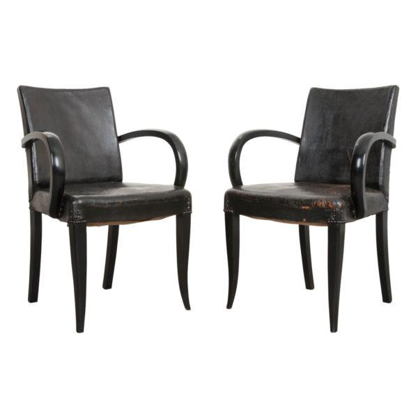 French 20th Century Art Deco Ebony Armchairs - a Pair For Sale - Image 10 of 10