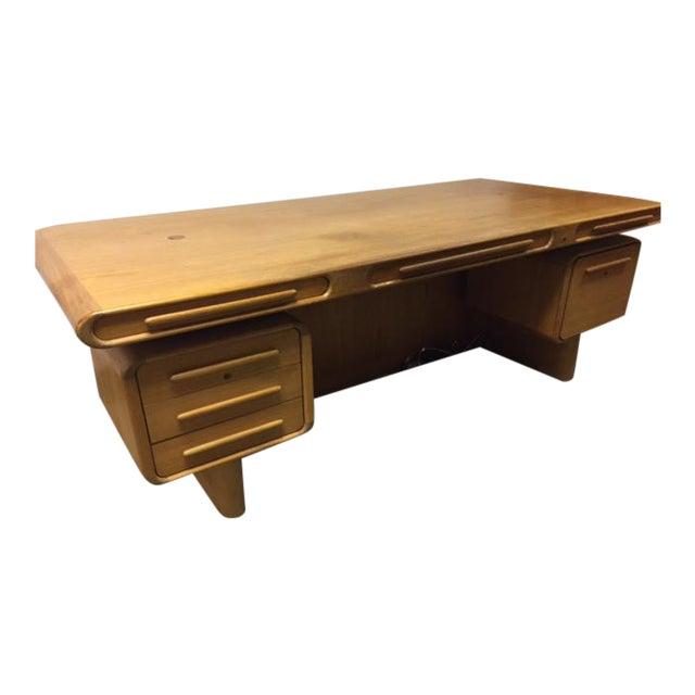 Scan Design Kibaek Mobelfabrik Teak Desk For Sale