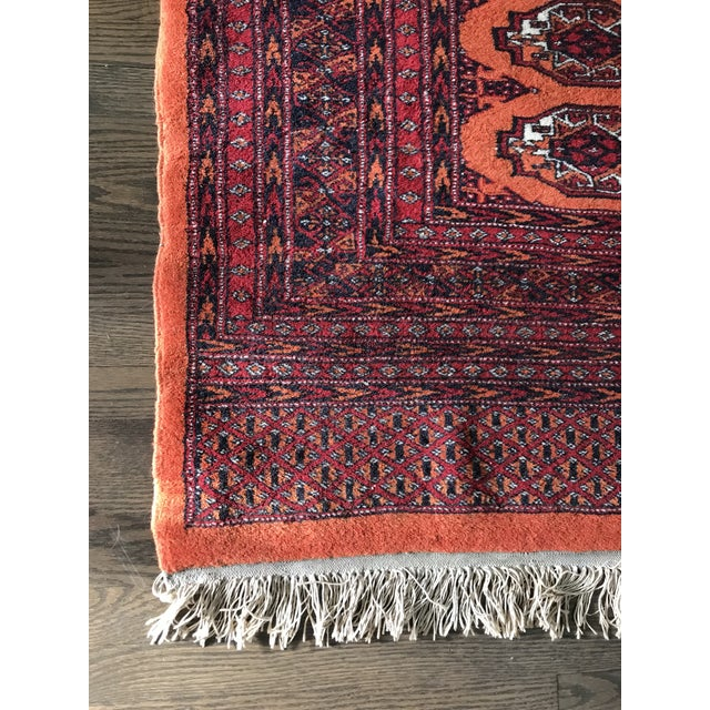 Mid 20th Century Hand Knotted Vintage Rug - 4′ × 6′2″ For Sale - Image 5 of 8