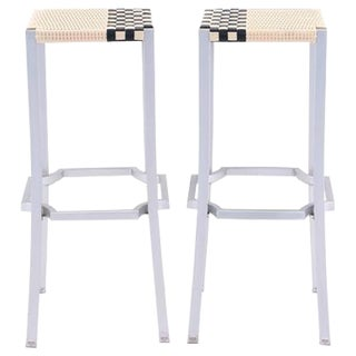 Contemporary Philippe Starck One Cafe Indoor or Outdoor Bar Stools - a Pair For Sale