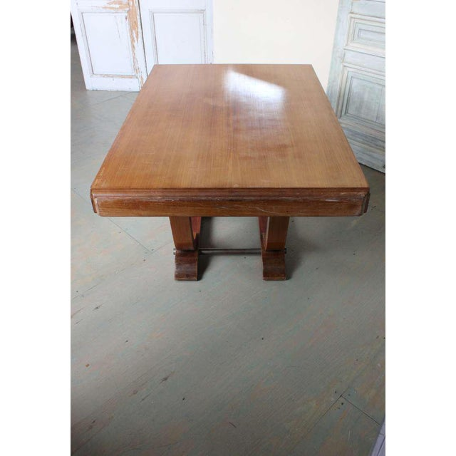 French 1940s Art Deco Style Rosewood Dining Table - Image 5 of 9