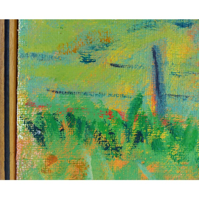 Late 20th Century Landscape Oil on Canvas by Duilio Pierri For Sale - Image 4 of 8