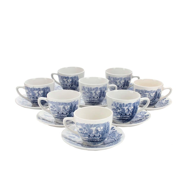 1960s Wedgewood & Co., Ltd England Cups and Saucers For Sale - Image 5 of 5