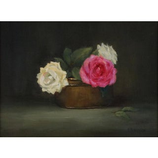 """Helene Robinson """"Three Roses"""" Oil Painting For Sale"""