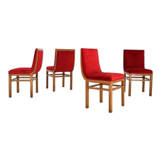 Set of 4 Armchairs by Gino Levi-Montalcini From 1940 For Sale