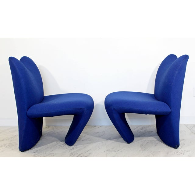 Pierre Paulin Mid-Century Modern Pair of Sculpted Accent Chairs Paulin Panton Style Italian For Sale - Image 4 of 9