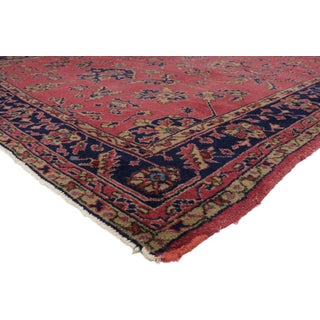 "1910s Vintage Distressed Turkish Sparta Rug - 9'5"" X 11'7"" Preview"
