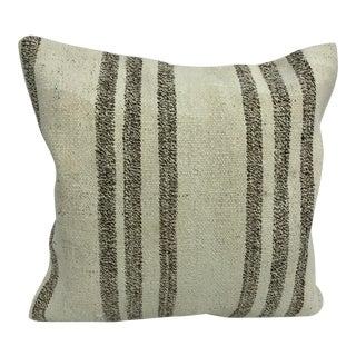 Stripe Design Antique Handmade Turkish Anatolian Sofa Kilim Pillow For Sale