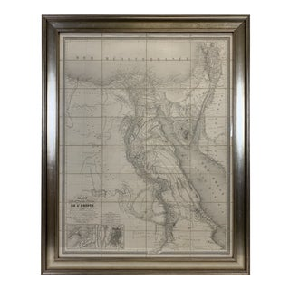 1828 Map of Egypt in French, Archivally Framed For Sale