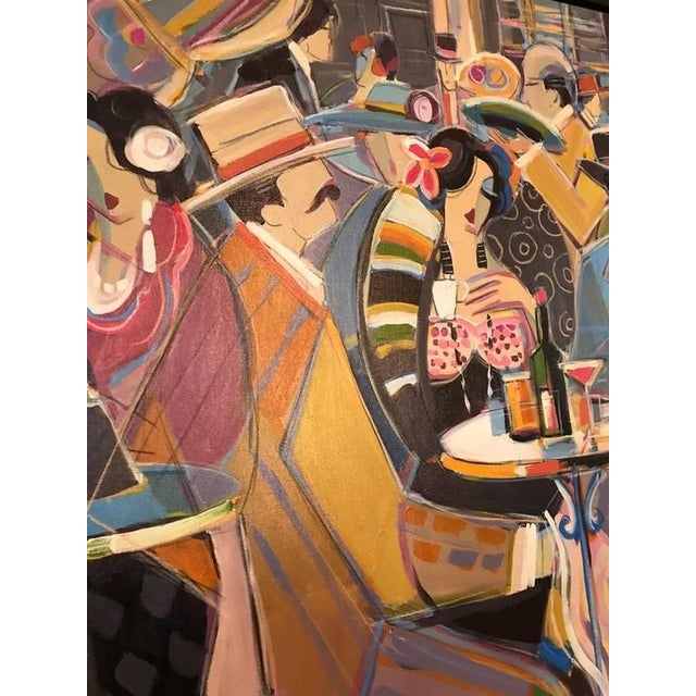 """Isaac Maimon Original Isaac Maimon Signed """"Sharing Great Times"""" For Sale - Image 4 of 10"""