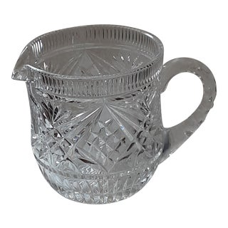 20th Century Cut Crystal Mid Century Pitcher For Sale