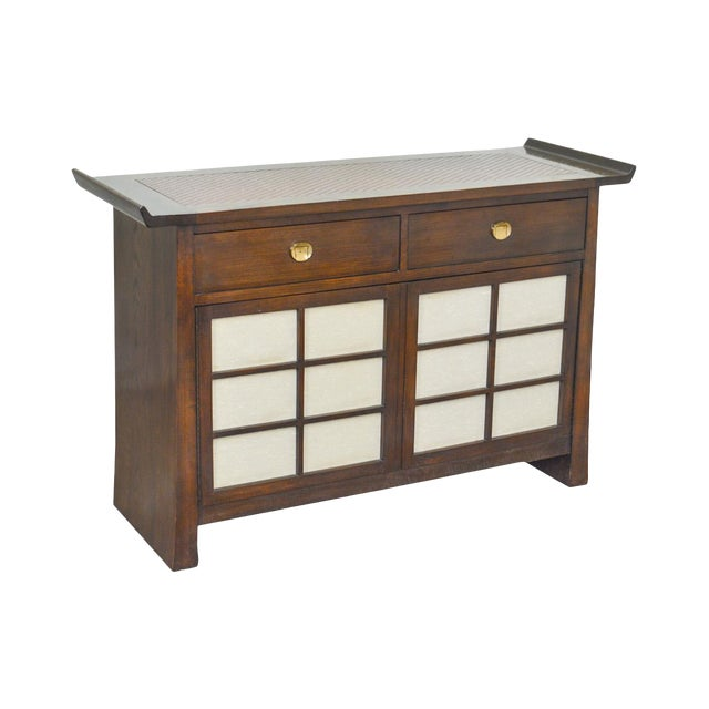 Bernhardt Flair Division Asian Inspired Console Server Cabinet For Sale