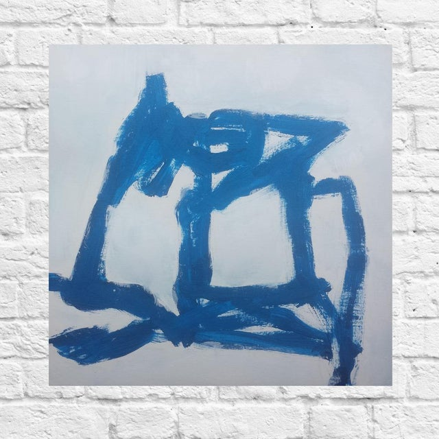"""""""Blue Abstract #1"""" Original Painting - Image 2 of 2"""