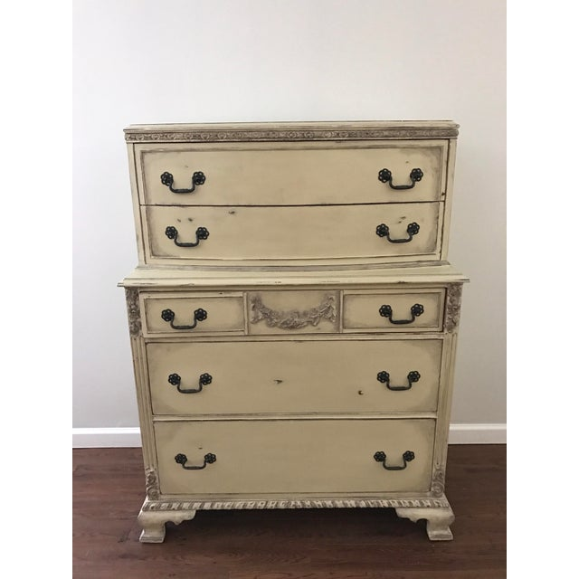 Country Grey French Tall Dresser - Image 2 of 8
