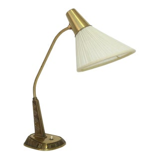 1950s Brass Table Lamp by Sonja Katzin for Asea For Sale
