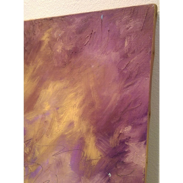 Original Oil on Canvas Abstract Modern Painting - Image 5 of 6