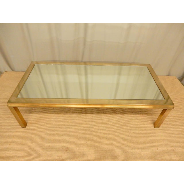 Elegantly mirrored Mid Century Modern coffee table.