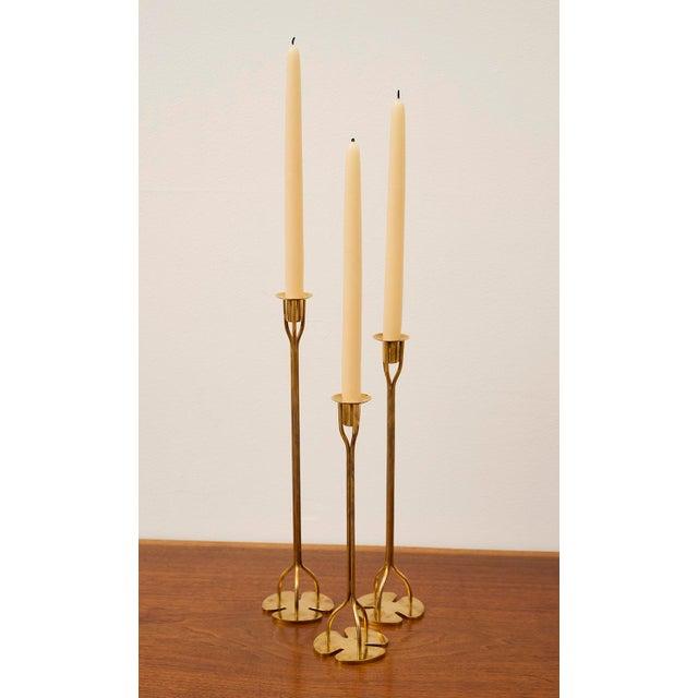 1950s Josef Frank Candlesticks - Set of 3 For Sale - Image 11 of 12
