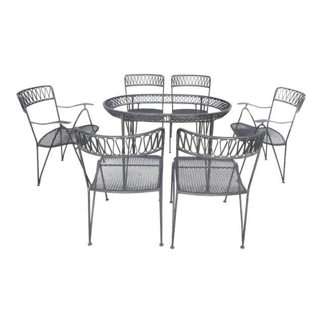 1950s Vintage Maurizio Tempestini for Salterini Dining Set - 7 Pieces For Sale