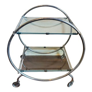 1930s Bauhaus Art Deco Period Bar Cart For Sale