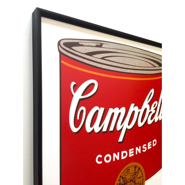 """Andy Warhol Andy Warhol Foundation Vintage Large Framed Lithograph Print Iconic Pop Art Poster """" Campbell's Soup I ( Tomato ) """" 1968 For Sale - Image 4 of 13"""