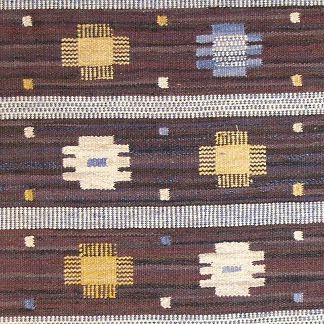 FJ Hakimian Mid 20th Century Swedish Flat Weave Rug For Sale - Image 4 of 5
