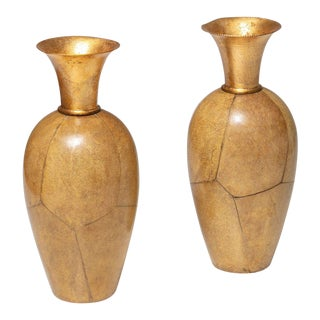 Set of Two Vases by Aldo Tura for Macabo For Sale