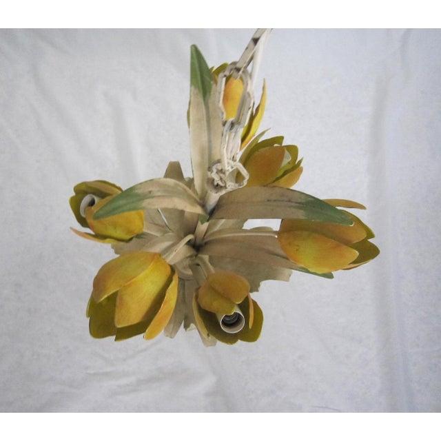 Italian Tole Tulip Chandelier - Image 6 of 6