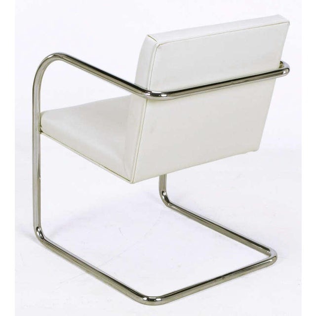 Four Thonet White & Chrome Cantilever Dining Chairs - Image 4 of 9