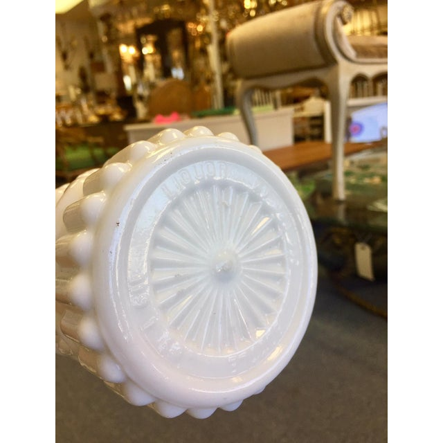 Wood 1960s Milk Glass Bottle With Cork Top For Sale - Image 7 of 8