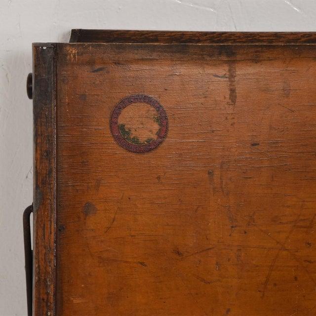 Antique Chautauqua Industrial Art Desk Lewis E. Myers & Company For Sale - Image 4 of 11