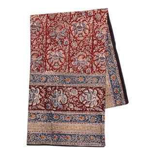 Iznik Floral Print Tablecloth, 6-seat table - Maroon For Sale